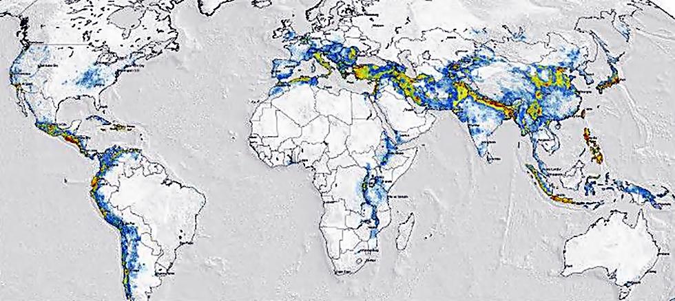 Online Xartes Kindynoy Apo Seismoys Poies Perioxes Sthn Ellada